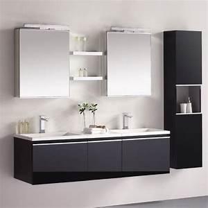 Doppelwaschbecken Mit Unterschrank Und Spiegelschrank : eago design unterschrank milano me 1600 schwarz ~ Watch28wear.com Haus und Dekorationen