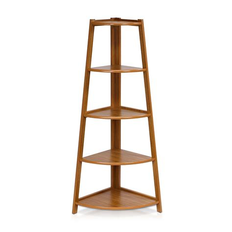 corner ladder shelf 5 tier corner ladder shelving unit cherry color review