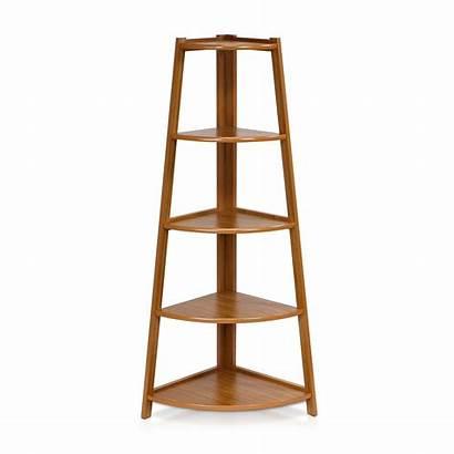Corner Shelf Ladder Tier Wood Furinno Storage