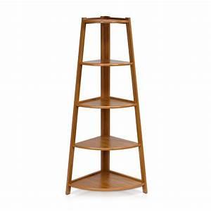 5, Tier, Corner, Ladder, Shelving, Unit