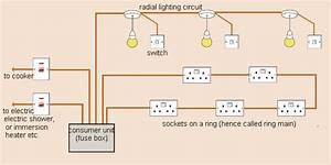 A  Draw A Schematic Diagram Of One Of The Common Domestic Ciecuit Showing Main Fuse  A Power