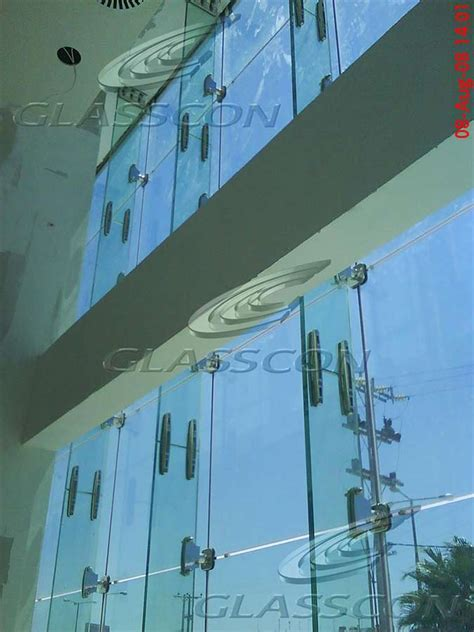 ballistic structural glass curtain wall with glass fins