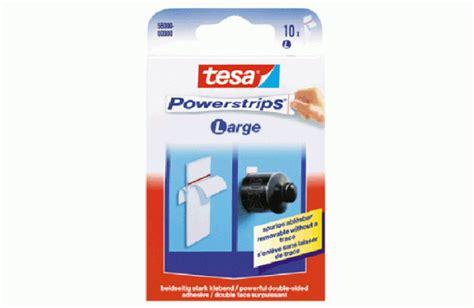 tesa powerstrips 5 kg tesa powerstrip 10 st 252 ck ca 1 kg tragkraft mit kunstoff tr 228 ger klebeband doppelseitig kleb