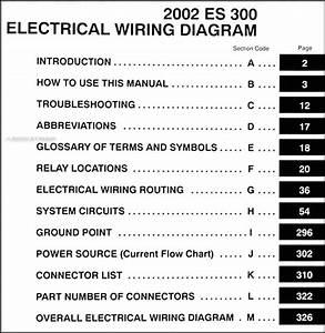 2002 Lexus Es 300 Wiring Diagram Manual Original