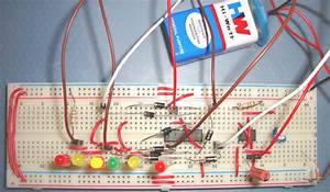 Dancing Leds Circuit Diagram Using 555 Timer Ic And Ic Cd4017