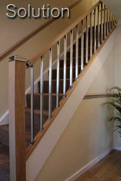 Banister Handrail by Stair Banisters Stair Parts Chrome Stair Handrail