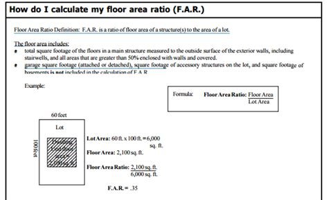 how to calculate far floor area ratio in a real estate
