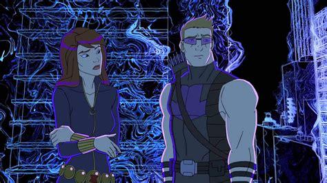 Marvel Avengers Assemble Hawkeye Black Widow