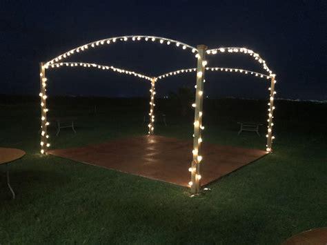 dance floor outside diy dance floor with lights
