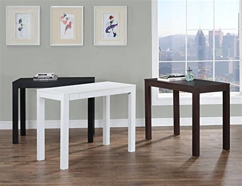 ameriwood home parsons desk with drawer black kitchen