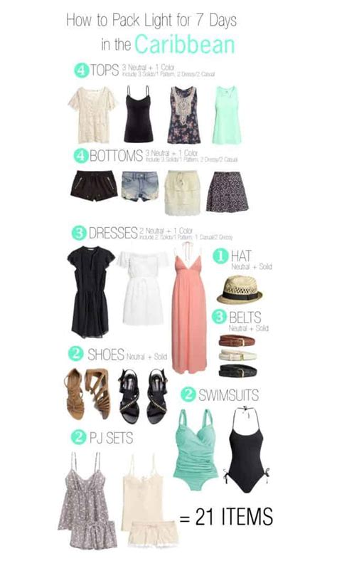 Caribbean cruise outfits what to pack and outfit ideas - summervacationsin.com