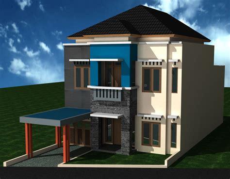 desain rumah  rumah minimalis dua lantai images
