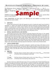 maintenance contract template 4 free templates in pdf