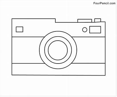 Coloring Pages Camera Template Sheet Instagram Clipart