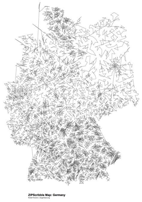 ZIPScribble Map: Germany