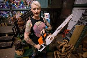 Artist Griffon Ramsey carves pop culture sculptures out of