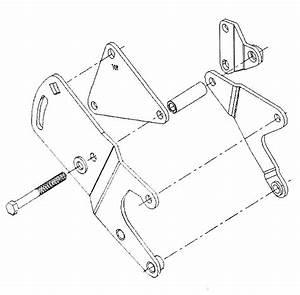 Mopar Saginaw Power Steering Pump Bracket  U0026 Bolt Kit 340