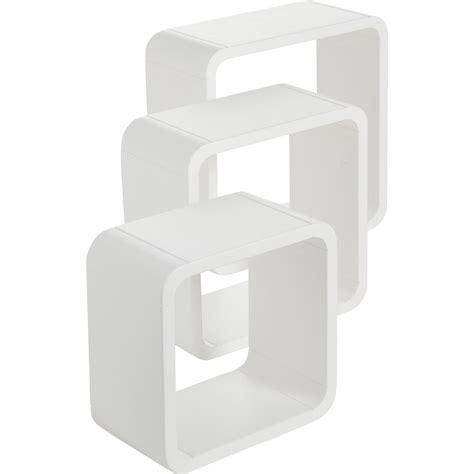 Etagère 3 Cubes Blancblanc  L 28 X P 28, L 24 X P 24, L