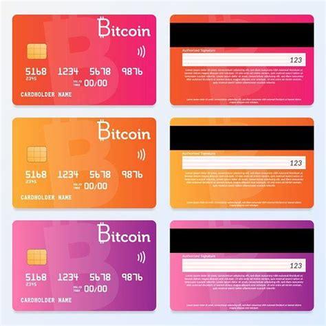 credit card design bitcoin pay credit card design card