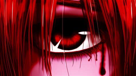 elfen lied red eyes lucy wallpapers hd desktop