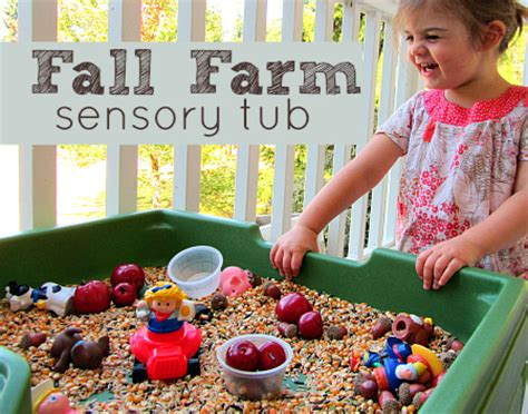9 must do fall activities for 3 year olds no time for 534 | Fall Farm Sensory Tub
