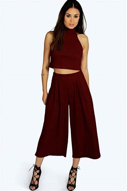 Ord Outfits Boohoo Topsforwomen Ords Culotte Neck