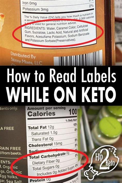 read nutrition labels  keto pinterest image