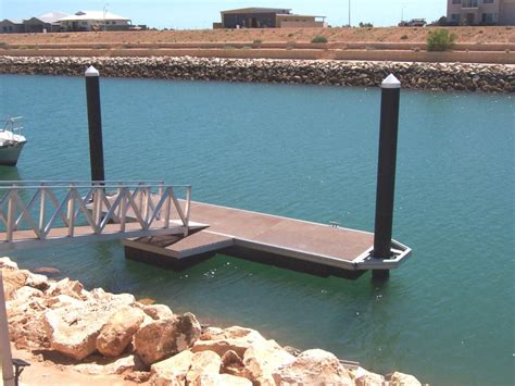 Boat Mooring Jetties by Exmouth Floating Jetties Mandurah Jetty Construction