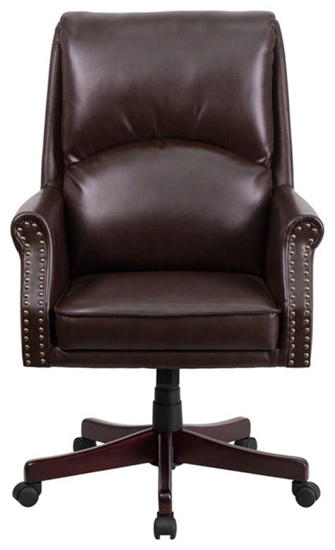high back pillow back leather executive swivel office