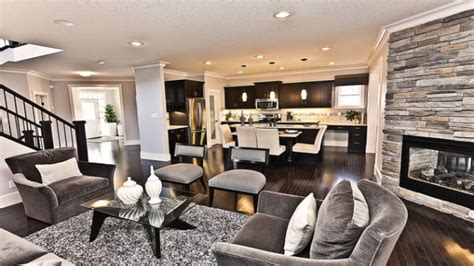 open house plans with large kitchens paint colors for open concept living room and kitchen