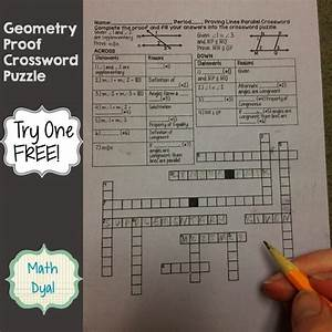Geometry Proof Crossword Puzzles  With Images