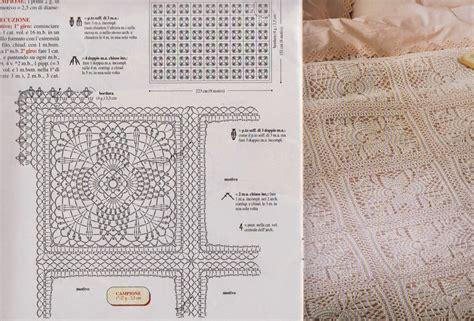 copriletti all uncinetto schemi schema uncinetto copriletto hobby lavori femminili