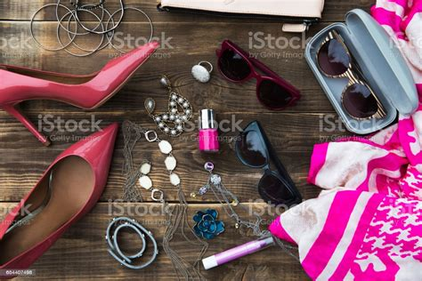Woman Trendy Fashion Accessories Stock Photo - Download ...