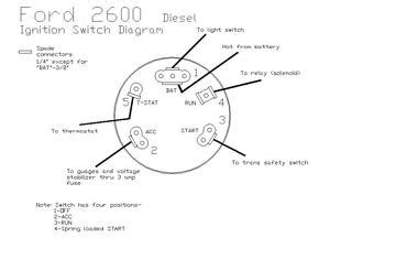 Ford Ingnition Switch Diagram Tractorshed
