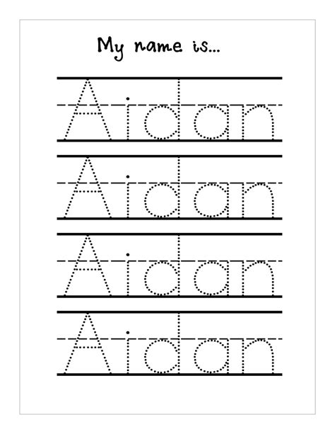 Trace Your Name Worksheet Printable  Kiddo Shelter