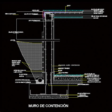retaining wall dwg detail  autocad designs cad