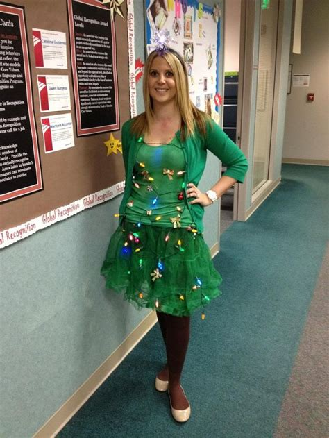 diy christmas tree costume fall and halloween pinterest