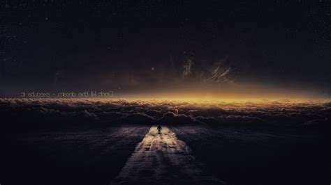 Quote, Road, Sky, Clouds, Stars, Galaxy, Fantasy Art