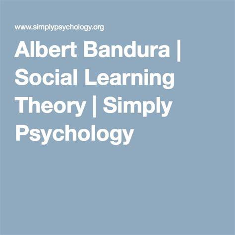 albert bandura social learning theory simply