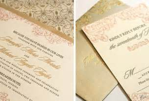gold wedding invitations gorgeous foil sted wedding invitations gold blush pink onewed