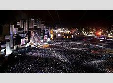 Vista del escenario principal en el concierto de Slipknot