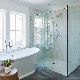 Wood Like Shower Tiles Design Ideas
