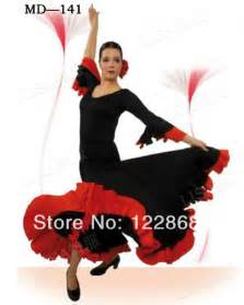 Women-Lady-Black-Red-Performance-Skirt-Flamenco-Dance-Costume-Flamenco