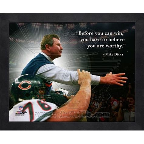 mike ditka chicago bears nfl hof framed pro quote photo