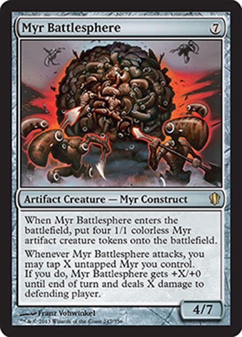 mtg myr deck ideas myr battlesphere from commander 2013 spoiler