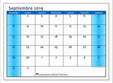 Calendarios septiembre 2019 DS Michel Zbinden ES