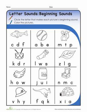 letter sounds beginning sounds worksheet educationcom