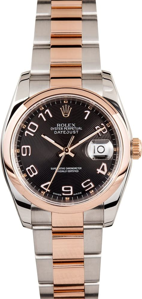 Men's Used Rolex DateJust Watch Rose Gold 116201 - Bob's