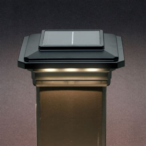 led post cap lights solar post cap light