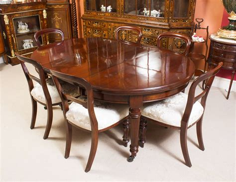 antique extending dining table 6 chairs